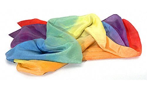 Healing Sheet Silk Rainbow Large